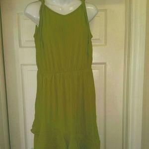 Green an black summer dress sz xl